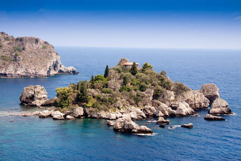 Isola Bella, beautiful island, Taormina, Sicily